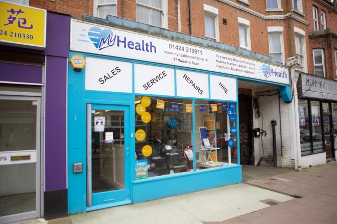 MyHealth Mobility Showroom Bexhill