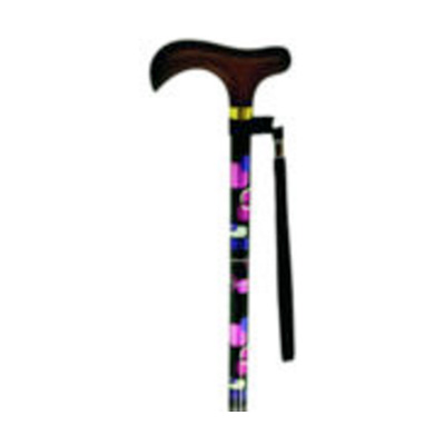 Adjustable Walking Stick Wood Handle