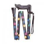 Folding Walking Stick Spots Ergonomic Handle